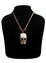 Collier tête de squelette