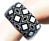 Bracelets Géométriques Noirs et Blancs Motif 2 back