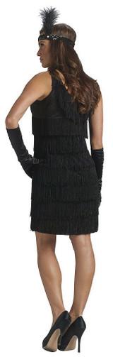 Robe de Flapper Noire pour Femme back