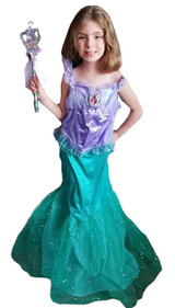 Costume d'Ariel Petite Sirène pour Fille 1
