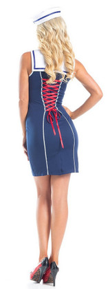 Sexy Sailor Womens Costume back