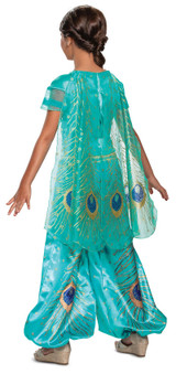 Costume Jasmine Turquoise Deluxe pour Fille Aladdin back