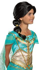 Perruque de Jasmine Aladdin Enfant - image arriere