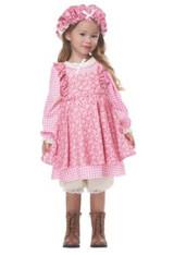 Costume de Paysanne Petite Fille des Prairies Rose