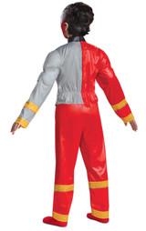 Costume de Ranger Rouge Dino Fury Muscle Pour Garcons