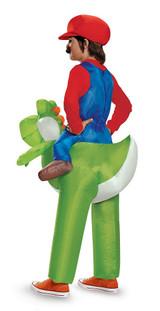 Costume de Super Mario sur Yoshi Enfant back