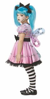 Costume de Petite Poupée Squelette Bleue back