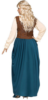 Costume de Reine Viking Plus back