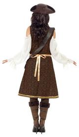 Costume de Pirate de la Haute Mer pour Femme back