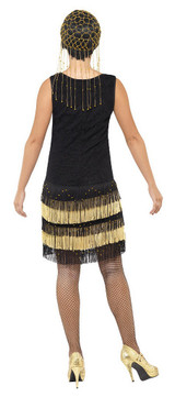 Costume Flapper à Franges pour Femme des 1920s back