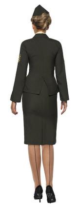 Costume d'Officier de l'Armée pour Femme back