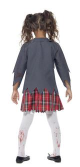 Costume de d'Écolière Zombie pour Fille back