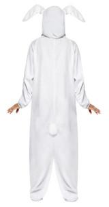Costume de Lapin Blanc à Capuche Femme back