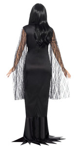 Costume d'Âme Immortelle Femme Morticia Addams back