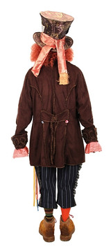 Costume Veste de Chapelier Fou Homme back