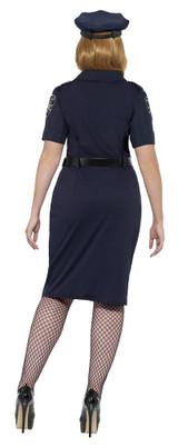 Costume de Femme Policière NYC Taille Plus back