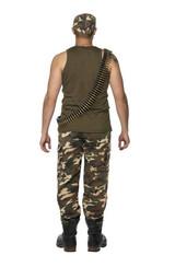 Costume pour Hommes de Camouflage Kaki back