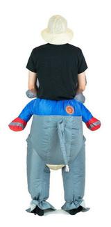 Costume d'Éléphant Gonflable Adulte back