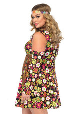 Costume de Hippie aux Fleurs pour Femmes Plus back