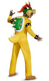 Costume de Luxe de Bowser Super Mario pour Adulte back