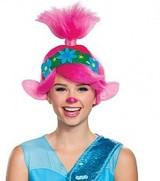 Perruque de Princesse Troll Tournée mondiale Femme - deuxieme image