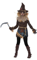 Costume d'Épouvantail effrayant pour préadolescente - deuxieme image