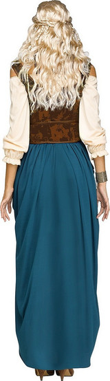 Costume de Reine Viking Bleu