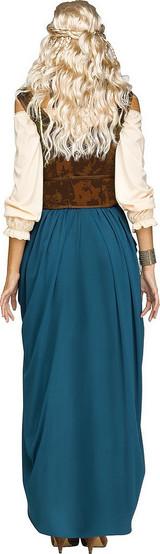 Costume de Reine Viking Bleu - deuxieme image