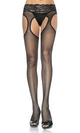 Pantyhose for women with lace waist