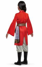 Costume de l'héroine Mulan rouge pour Filles - deuxieme image