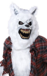Costume d'Homme Loup-Garou Blanc