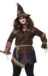 Costume d'Epouvantail Effrayant pour Femmes - deuxieme image
