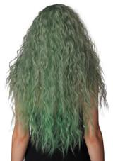 Perruque Enchantée Verte Grise - deuxieme image