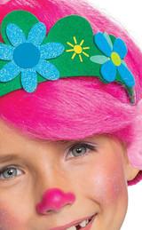 Perruque Poppy des Trolls pour Filles - deuxieme image