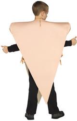 Costume Pointe de Pizza pour Garcon - image de dos
