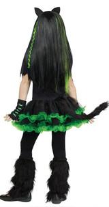 Costume de Chat Cool pour fille - image de dos