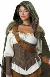 Costume de Chasseuse Robin des Bois pour Femmes