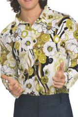 Chemise verte Groovy pour homme - deuxieme image