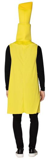 Costume de Surligneur Jaune pour Femmes - image du dos