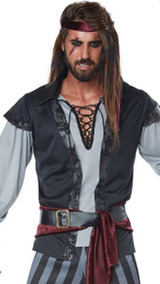 Costume Scallywag Pirate Plus pour Hommes - image du dos