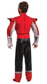 Costume de Power Ranger Rouge Super Charge Classique
