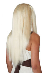 Perruque Lisse Longue Blonde Platine
