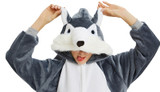 Costume Onesie Husky Gris Foncé pour Adultes