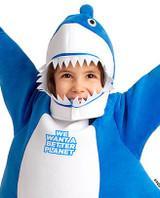 Costume de Requin Bleu Pour Tout-Petit