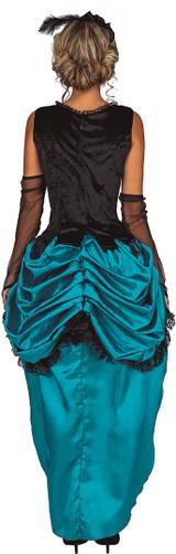 Costume Saloon Bleu pour Femmes