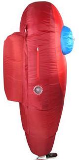 Costume Gonflable Among Us Rouge pour Enfants