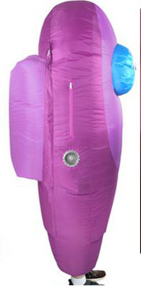 Costume Gonflable Among Us Mauve pour Adultes