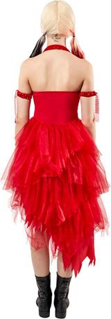 Costume Harley Quinn Robe Rouge pour Femme