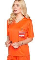 Costume de Prisonnière Orange pour Femme