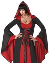 Costume Vampire pour Femme Rouge et Noir - Grande Taille